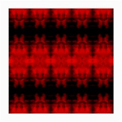 Red Black Gothic Pattern Medium Glasses Cloth (2 Side) by Costasonlineshop