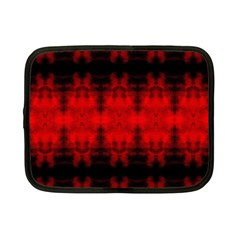 Red Black Gothic Pattern Netbook Case (small)  by Costasonlineshop