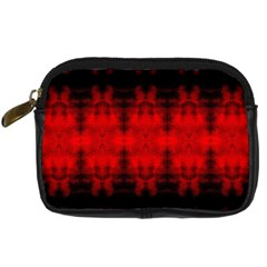 Red Black Gothic Pattern Digital Camera Cases by Costasonlineshop