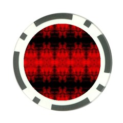 Red Black Gothic Pattern Poker Chip Card Guards (10 Pack)  by Costasonlineshop