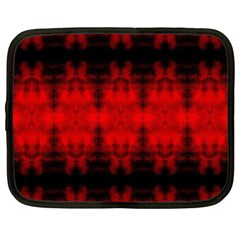 Red Black Gothic Pattern Netbook Case (xxl)  by Costasonlineshop