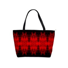Red Black Gothic Pattern Shoulder Handbags by Costasonlineshop