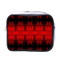 Red Black Gothic Pattern Mini Toiletries Bags by Costasonlineshop
