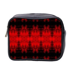Red Black Gothic Pattern Mini Toiletries Bag 2 Side by Costasonlineshop