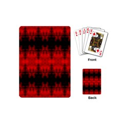 Red Black Gothic Pattern Playing Cards (mini)  by Costasonlineshop