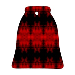 Red Black Gothic Pattern Bell Ornament (2 Sides) by Costasonlineshop