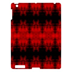 Red Black Gothic Pattern Apple Ipad 3/4 Hardshell Case by Costasonlineshop