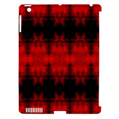 Red Black Gothic Pattern Apple Ipad 3/4 Hardshell Case (compatible With Smart Cover) by Costasonlineshop