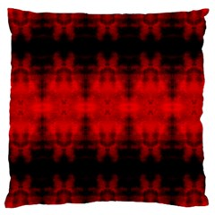 Red Black Gothic Pattern Large Cushion Cases (one Side)  by Costasonlineshop