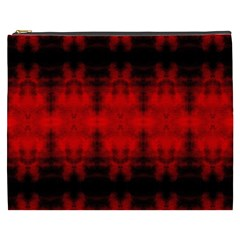 Red Black Gothic Pattern Cosmetic Bag (xxxl)  by Costasonlineshop