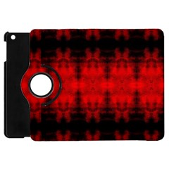 Red Black Gothic Pattern Apple Ipad Mini Flip 360 Case by Costasonlineshop