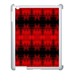 Red Black Gothic Pattern Apple Ipad 3/4 Case (white) by Costasonlineshop