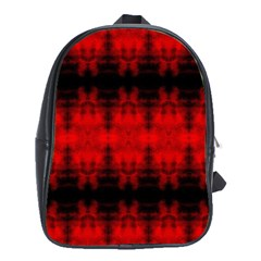 Red Black Gothic Pattern School Bags (xl)  by Costasonlineshop