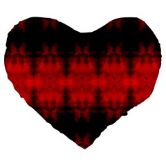 Red Black Gothic Pattern Large 19  Premium Heart Shape Cushions by Costasonlineshop