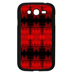 Red Black Gothic Pattern Samsung Galaxy Grand Duos I9082 Case (black) by Costasonlineshop