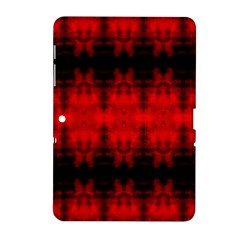 Red Black Gothic Pattern Samsung Galaxy Tab 2 (10 1 ) P5100 Hardshell Case  by Costasonlineshop