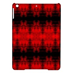 Red Black Gothic Pattern Ipad Air Hardshell Cases by Costasonlineshop