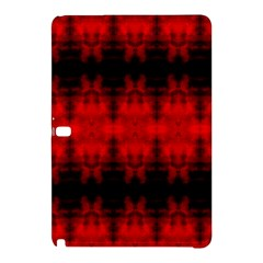 Red Black Gothic Pattern Samsung Galaxy Tab Pro 12 2 Hardshell Case by Costasonlineshop