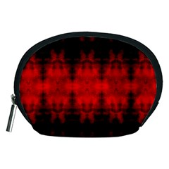 Red Black Gothic Pattern Accessory Pouches (medium)  by Costasonlineshop
