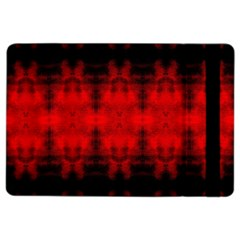 Red Black Gothic Pattern Ipad Air 2 Flip by Costasonlineshop