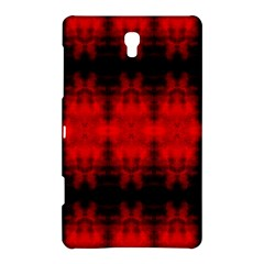 Red Black Gothic Pattern Samsung Galaxy Tab S (8 4 ) Hardshell Case  by Costasonlineshop