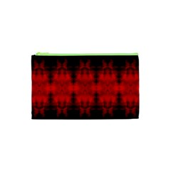 Red Black Gothic Pattern Cosmetic Bag (xs) by Costasonlineshop