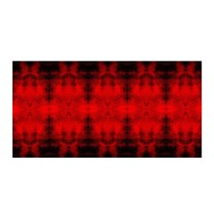 Red Black Gothic Pattern Satin Wrap by Costasonlineshop