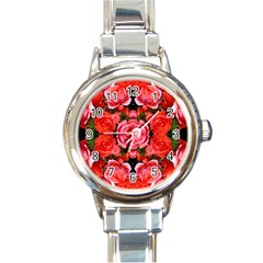 Beautiful Red Roses Round Italian Charm Watches by Costasonlineshop