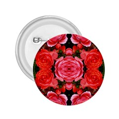 Beautiful Red Roses 2 25  Buttons by Costasonlineshop