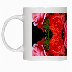 Beautiful Red Roses White Mugs by Costasonlineshop