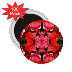 Beautiful Red Roses 2 25  Magnets (100 Pack)  by Costasonlineshop