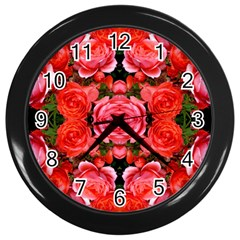 Beautiful Red Roses Wall Clocks (black) by Costasonlineshop
