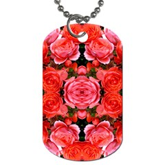Beautiful Red Roses Dog Tag (two Sides) by Costasonlineshop