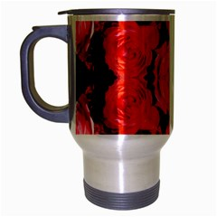 Beautiful Red Roses Travel Mug (silver Gray) by Costasonlineshop