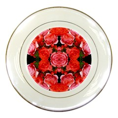Beautiful Red Roses Porcelain Plates by Costasonlineshop