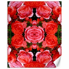 Beautiful Red Roses Canvas 11  X 14   by Costasonlineshop