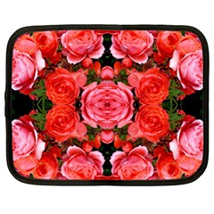 Beautiful Red Roses Netbook Case (large) by Costasonlineshop