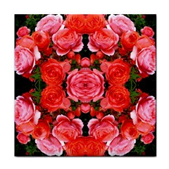 Beautiful Red Roses Face Towel by Costasonlineshop
