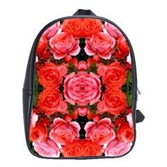 Beautiful Red Roses School Bags(large)  by Costasonlineshop