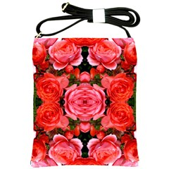 Beautiful Red Roses Shoulder Sling Bags by Costasonlineshop