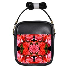 Beautiful Red Roses Girls Sling Bags by Costasonlineshop