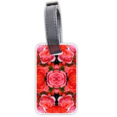 Beautiful Red Roses Luggage Tags (one Side)  by Costasonlineshop