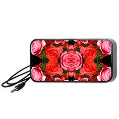 Beautiful Red Roses Portable Speaker (black)  by Costasonlineshop