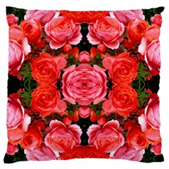 Beautiful Red Roses Large Cushion Cases (two Sides)  by Costasonlineshop