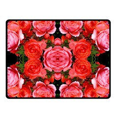 Beautiful Red Roses Double Sided Fleece Blanket (small)  by Costasonlineshop