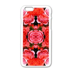 Beautiful Red Roses Apple Iphone 6/6s White Enamel Case by Costasonlineshop