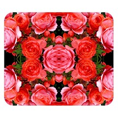 Beautiful Red Roses Double Sided Flano Blanket (small)  by Costasonlineshop