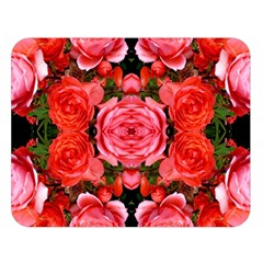 Beautiful Red Roses Double Sided Flano Blanket (large)  by Costasonlineshop