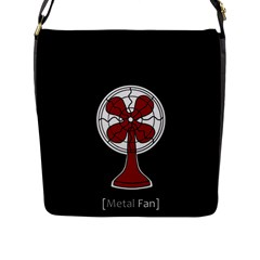 Metal Fan Flap Messenger Bag (l)  by waywardmuse