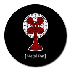 Metal Fan Round Mousepads